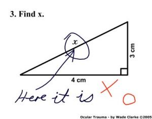 No marks for clever answers!