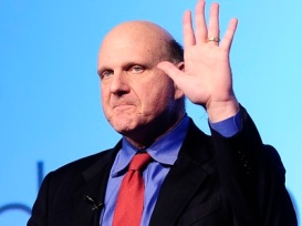 Steve Ballmer waves goodbye